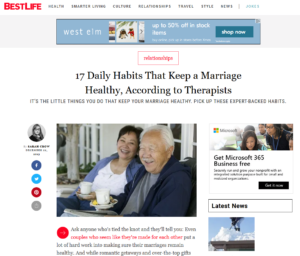 Healthy Marriage Habits