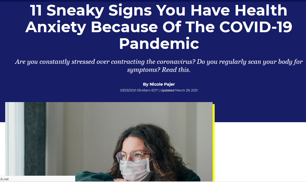 health anxiety due to covid-19